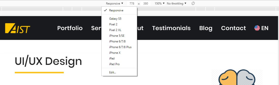 Check the website look on different devices from desktop - How to Check Website Quality