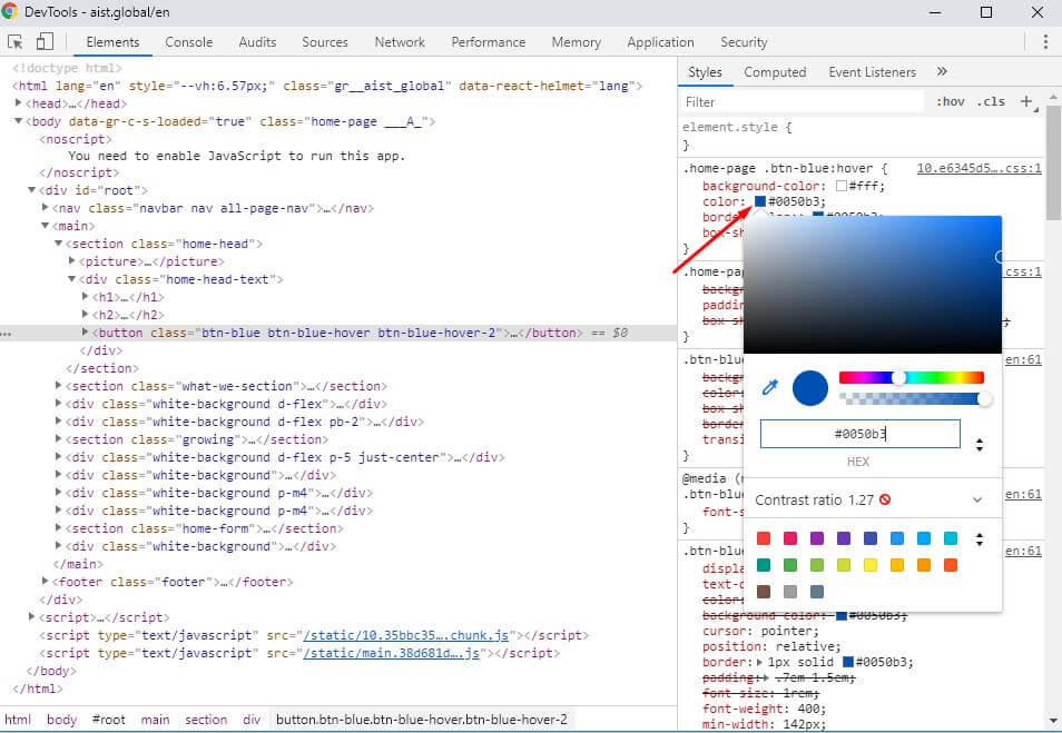 Check the color in HTML - How to check Website Quality