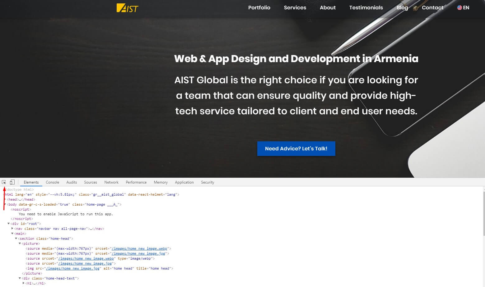 Inspect site texts - How to Check Website Quality
