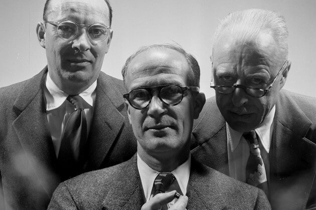 Bardeen, Shockley, and Brattain in 1950