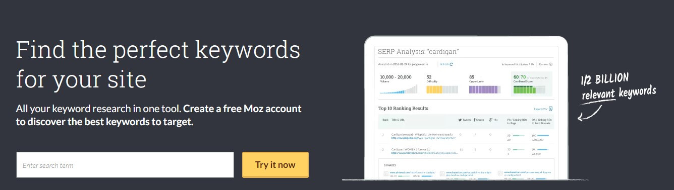 Website Optimization Tool:Moz