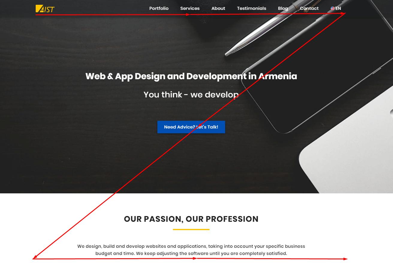 Interactive website design
