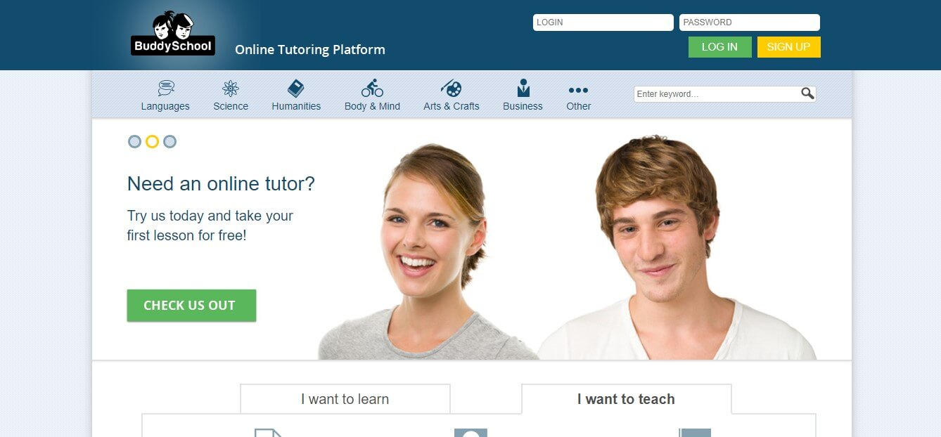 Online Teaching Sites That Will Inspire You:#5. Buddy School