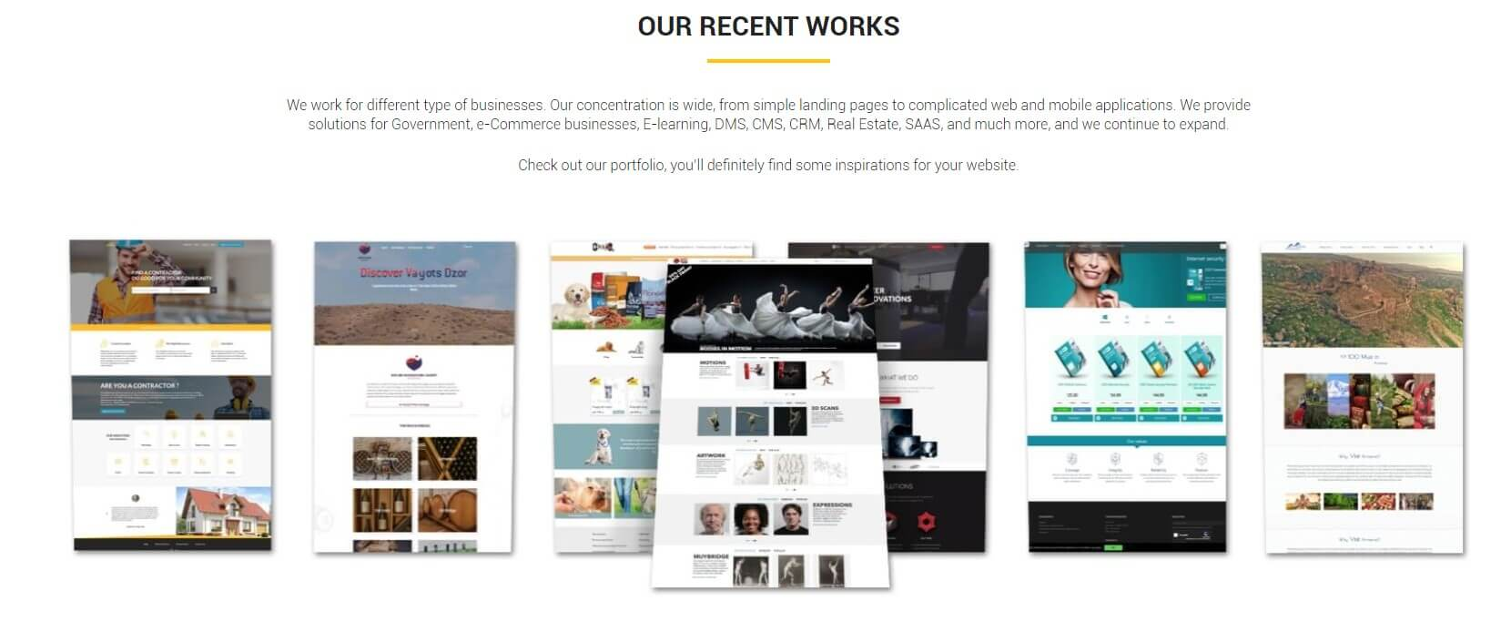 Check out the companies Portfolio