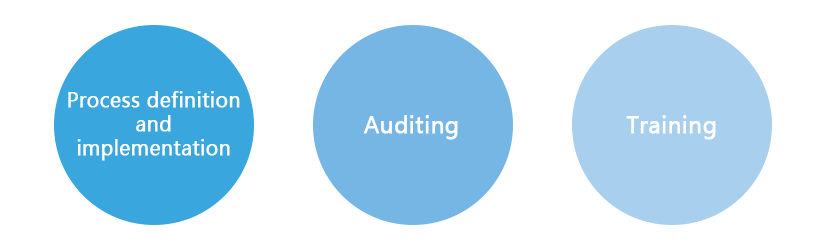 Software Quality Assurance includes;Process definition and implementation,Auditing,Training